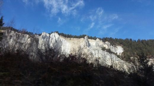 Spectacular limestone cliffs