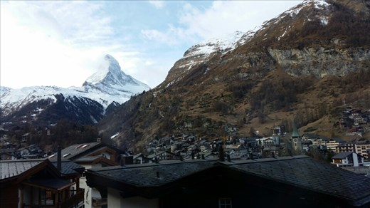 We glimpse the Matterhorn
