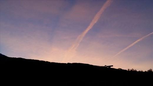 Beautiful morning sky as we leave Brig