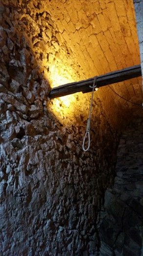The hangman's noose in the prison of the Chateau