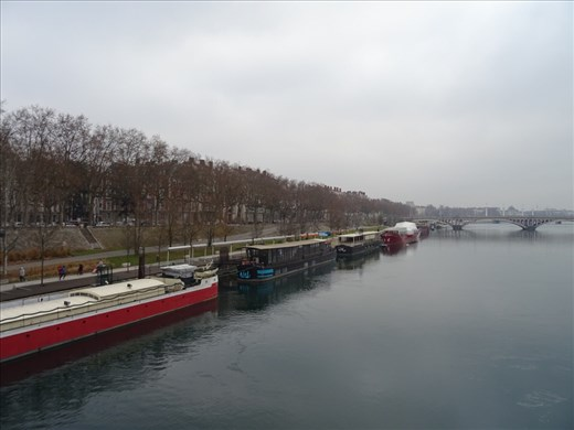 Barges along the Rhone, Lyon