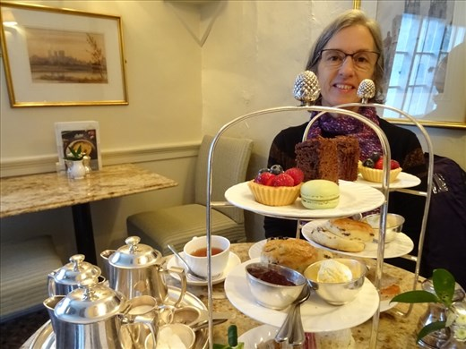 Afternoon tea in Betty's. Although we didn't have to queue for very long it was still worth the wait. Delicious