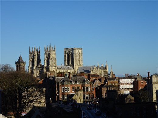 York Minster, taken from the old city wall