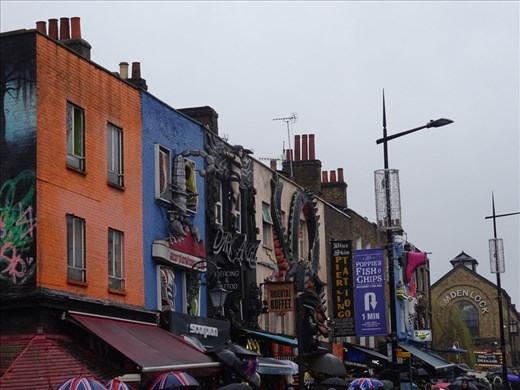 Old Camden Town. Creatively decorated shops