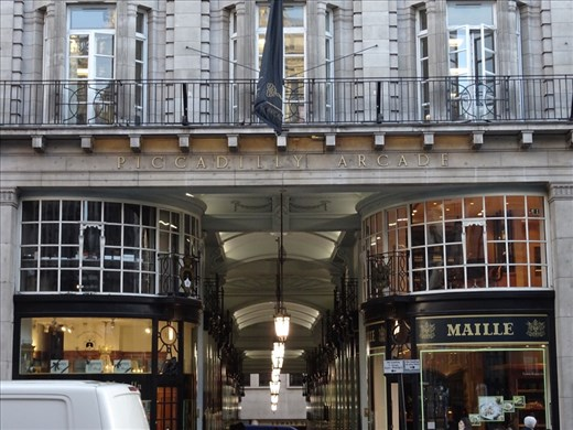Beautiful architecture of a London shopping arcade. No, I was not allowed to go in