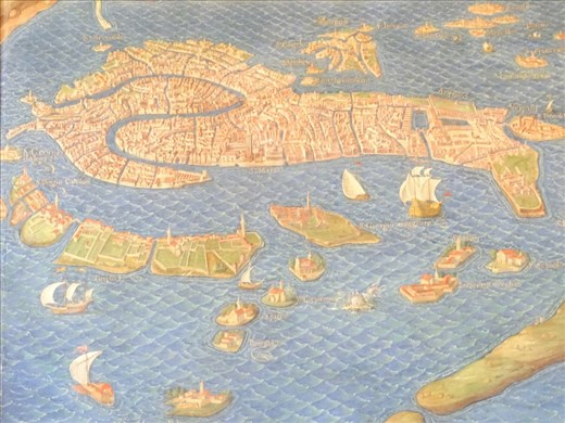 Ancient map of Venice