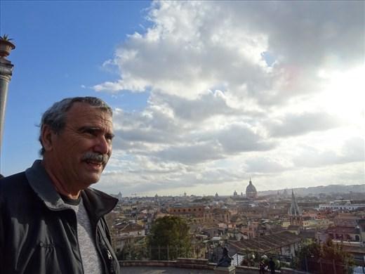 Chris overlooking Rome