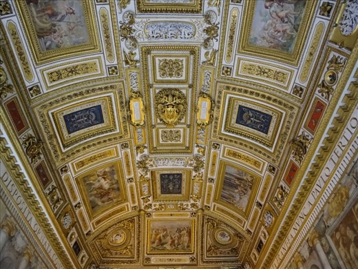 Painted ceiling in Castel Sant'Angelo