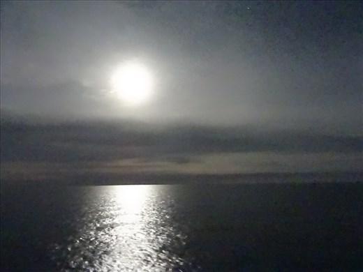 Full moon on the Med