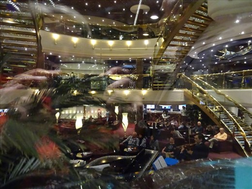 Central atrium on our way to our last dinner on board