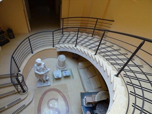 Staircase in hotel Seccy, Fiumicino