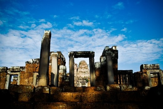 Standing the test of time in Grandeur. Ruins around the Angkor Wat temple in Siem Reap, Cambodia.