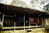 Old Lady waiting for tourists to come and buy Tenun Ikat.: by survived, Views[156]