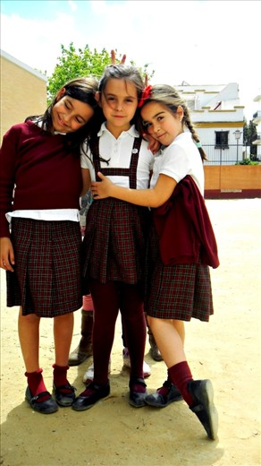 These three little girls are students at this public school a couple blocks from my college where I would volunteer to teach English to them. The three musketeers where so willing to learn, such sweet girls.