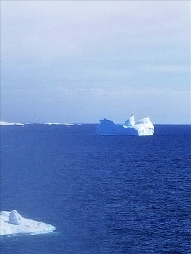 I thought the spiral shape of this iceberg was unusual.