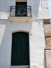 Beautiful old door and balcony -- reminiscent of New Orleans.: by suziqtn, Views[63]