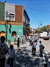 The La Boca area of BA is a wildly colored Bohemian place. Not safe at night, but great during the day. I bought a lovely scarf here.: by suziqtn, Views[156]