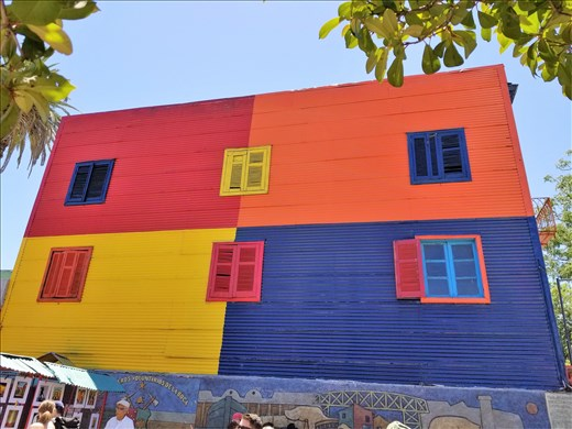 Yet another colorful house in La Boca.