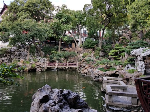 A pool in the Yu Gardens.
