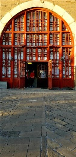 While in Beijing, we visited a tea house in a huge complex. As I noted throughout China, the entrance was a magnificent gate.