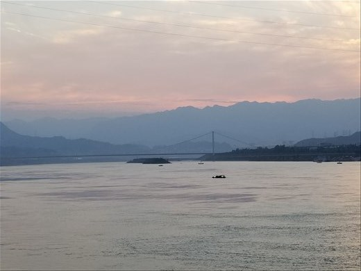 This view of the river just before sunset was ethereal.