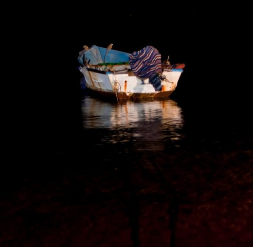Just a swaying lonely boat that caught my eye after a day of walking around Dahab.
