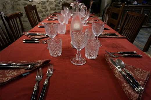 One of Gregory's beautiful table settings