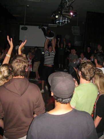 Dirty dancing contest at the mint bar