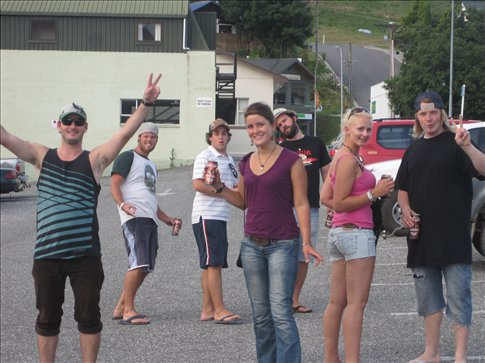 The gang on our way to Red Star