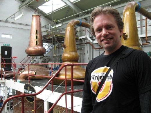 Standing in the Glengoyne Distillery (under maintenance): Dumgoyne, Scotland, UK.