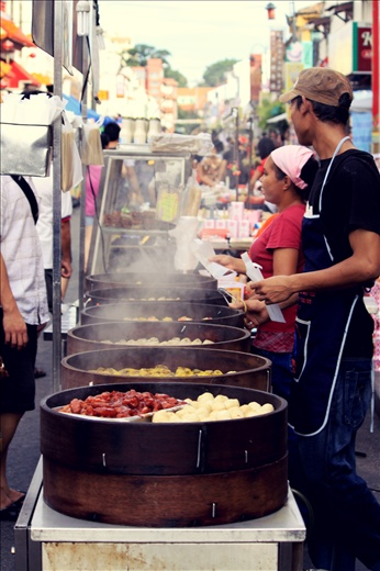 Delicious street food at the famous Jonker Street