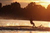 A skier sets the water aflame during a summertime sunset.: by sydneyalexandra, Views[215]