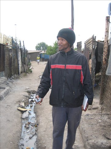 George, our resident tourguide in Kliptown