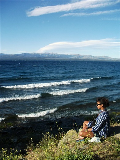Meditation time in Bariloche