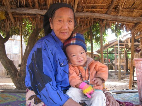 Karen tribe village in northern area around Chiang Mai.