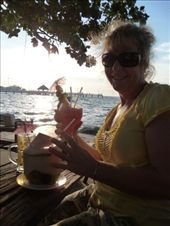 Mum with a coconut juice AND a cocktail at the beach!: by tara_and_mike, Views[148]