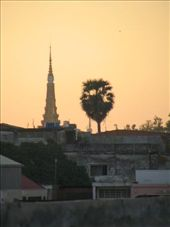 First morn -very exciting seeing temple bathed in dawn light over roof line: by tash, Views[179]