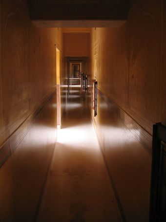Sunlit corridor -Nahargarh Fort