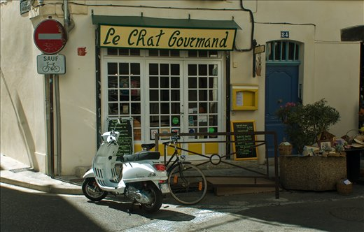 Le Chat Gourmand, sadly closed at the time.