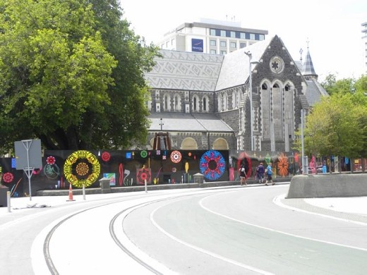 From this angle the Christchurch Cathedral doesn't look damaged...