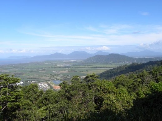 On the way down the other side, we could look down at Cairns and the surrounding towns.