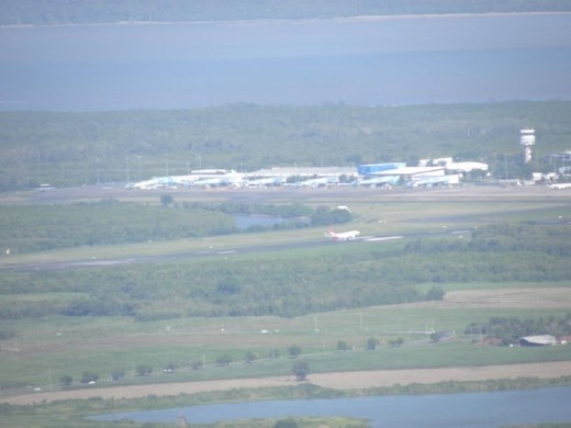 We could even look down at the Cairns Airport as planes were landing!