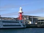 The red lighthouse is part of the South Australia Maritime Museum.: by taylortreks, Views[46]