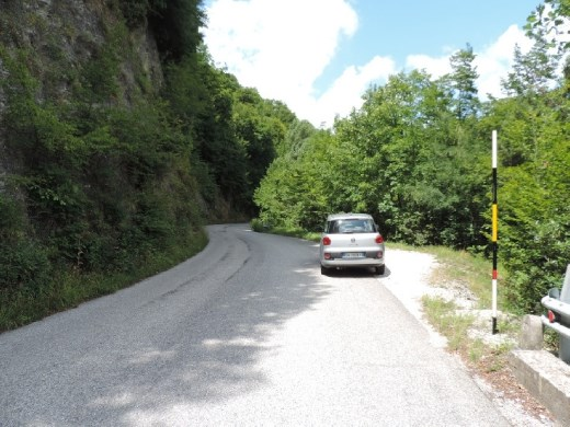 A narrow, but well maintained, road wound through the Sibillini National Park.