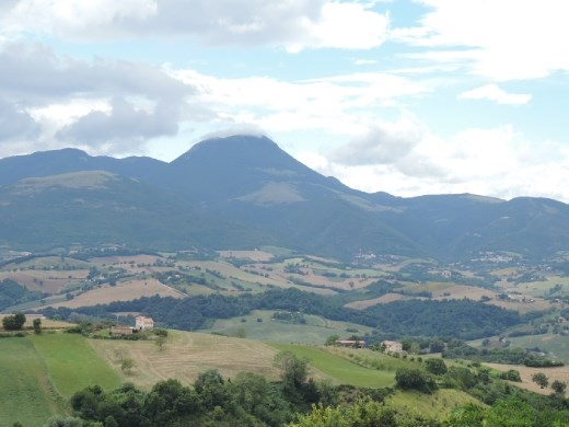 Our village of Sant'Angelo lies just beyond these hills.