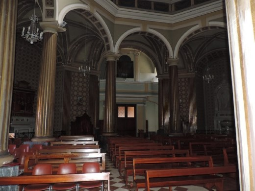 The church adjacent to the rocca was quiet, cool and restful. Then it was time for gelato!