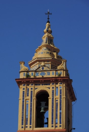 Colorful tiles were everywhere – even on the bell towers!