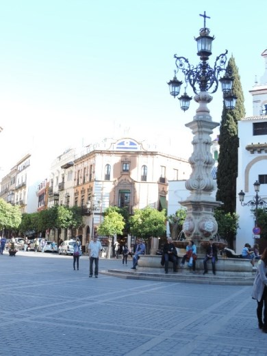 On the east side of the Cathedral is the beautiful Plaza del Triunfo.