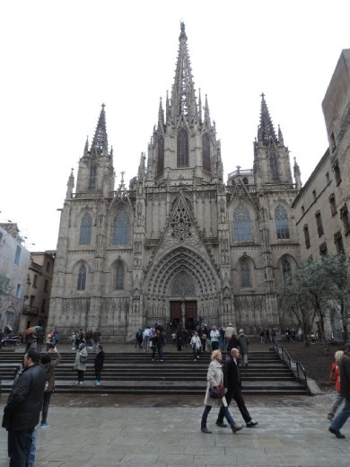 It was too bad we had to see the Seville Cathedral first. Everything gets compared to it now. While not as large, the Barcelona Cathedral isn't too shabby, though!