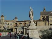 Patron Saint of Córdoba, Saint Rafael, is honored with a statue. On the left is the Triunfo column.: by taylortreks, Views[64]